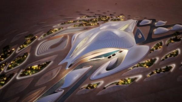 Ndërtesa e re në shkretëtirën arabe që duket si një anije kozmike (Foto)
