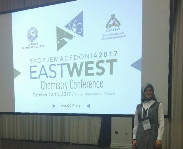 Zuljeta Fetai, anëtare e FRI-së, përfaqësuese e hulumtimit shkencor në konferencën e parë të kimistëve në Maqedoni